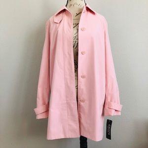Chaps by Ralph Lauren Women's Pink Trench Coat